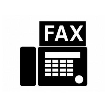 FAX・ファクシミリシルエット素材 | イラスト無料・かわいいテンプレート