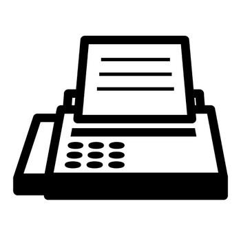 [無料イラスト] FAXのアイコン - パブリックドメインQ:著作権フリー画像素材集
