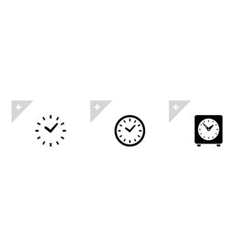 時計 | アイコン素材ダウンロードサイト「icooon-mono」 | 商用利用可能なアイコン素材が無料(フリー)ダウンロードできるサイト
