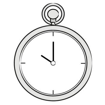 「時計」フリーイラスト | シンプルフリーイラスト