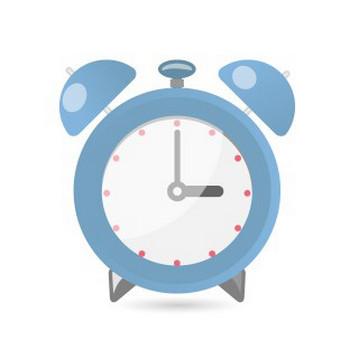 ホテル&ビジネスホテル:目覚まし時計(ブルー) | フリーイラスト素材 「趣味で作ったイラストを配るサイト」