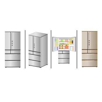 冷蔵庫のイラスト|イラスト素材の素材ダス