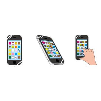 スマートフォンのイラスト-無料ビジネスイラスト素材のビジソザ