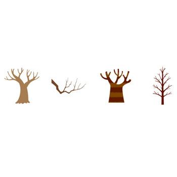 枯れ木 | 花、植物イラスト Flode illustration (フロデイラスト)