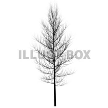 無料イラスト シルエット・枯れ木
