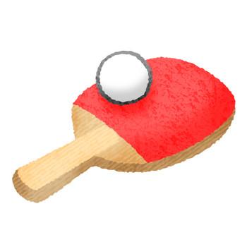 卓球ラケットとボール | フリーイラスト素材 イラストラング