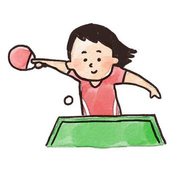 卓球選手のイラスト: ゆるかわいい無料イラスト素材集