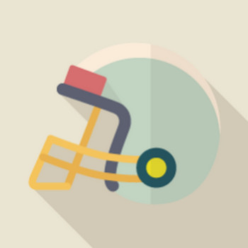 アメリカンフットボールのヘルメットアイコン素材 | FLAT ICON DESIGN -フラットアイコンデザイン-