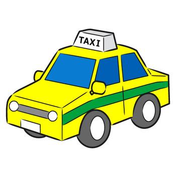 「タクシー」フリーイラスト   シンプルフリーイラスト