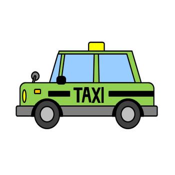 タクシーのイラスト(1) フリー素材 イラストカット.com