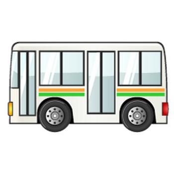【まとめ】バスの乗り物フリーイラスト素材集|イラストイメージ