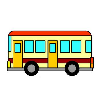 バスのイラスト|フリーイラスト素材 変な絵.net