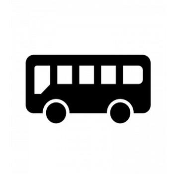 バスのシルエット | 無料のAi・PNG白黒シルエットイラスト
