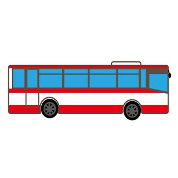 バスのイラストのフリー素材 大サイズ
