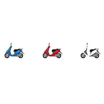 バイク-乗り物の素材-イラストポップ