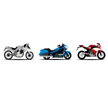 [フリーイラスト] 6種類のバイクのセットでアハ体験 - GAHAG | 著作権フリー写真・イラスト素材集