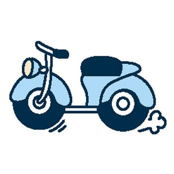 (バイク)オートバイのイラスト集/アイコン/背景画像(壁紙)=条件付フリー素材集