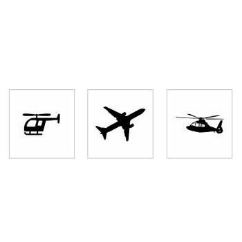 ヘリコプター|シルエット イラストの無料ダウンロードサイト「シルエットAC」
