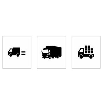 トラック|シルエット イラストの無料ダウンロードサイト「シルエットAC」