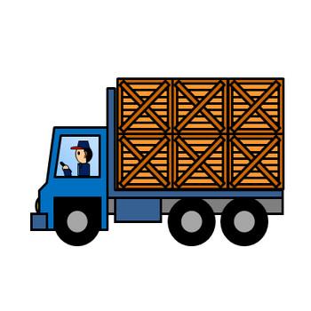 輸送トラックのイラスト|フリー素材 イラストカット.com