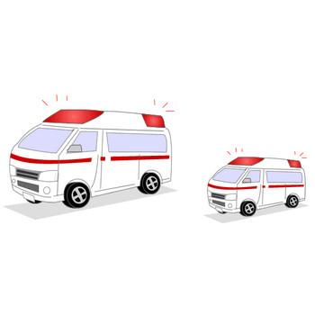 フリー素材・救急車のイラスト