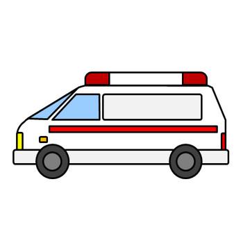 救急車のイラスト|フリー素材 イラストカット.com