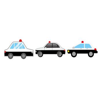 [フリーイラスト] 8種類のパトカーのセットでアハ体験 - GAHAG | 著作権フリー写真・イラスト素材集