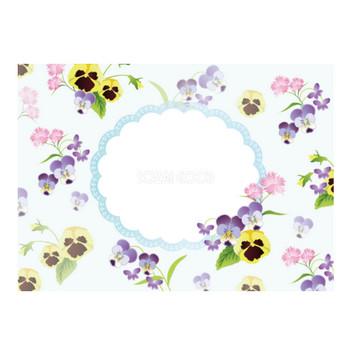 春(スミレ&パンジー) 表紙で使えるフリー背景素材 無料イラスト35464 | 素材Good