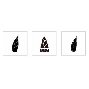 タケノコ シルエット イラストの無料ダウンロードサイト「シルエットAC」