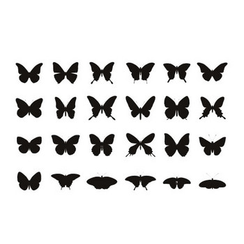 スタンダードな蝶の素材 | シルエットデザイン