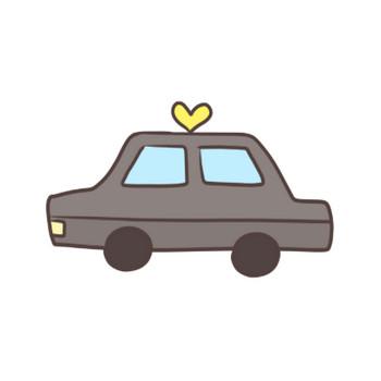 タクシーのイラスト   かわいいフリー素材が無料のイラストレイン
