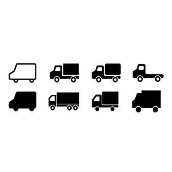 ECデザインからトラックのシルエット素材 | シルエットデザイン