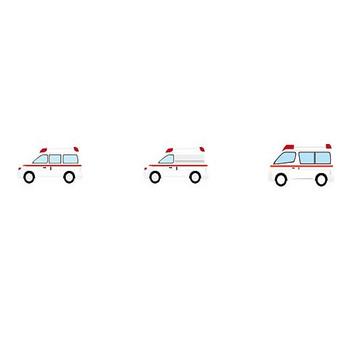 消防車・救急車-乗り物の素材-イラストポップ