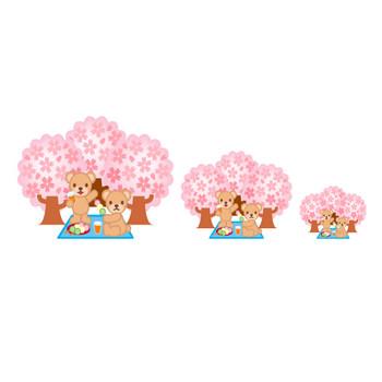 桜・花見のイラスト-フリー素材・無料イラスト「ふぁんし~・ぱ~つ・しょっぷ」