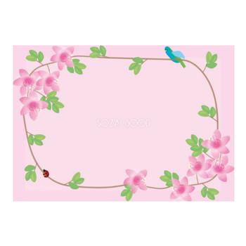 大紫躑躅(つつじ)春4月-5月の花フレーム無料イラスト68689 | 素材Good