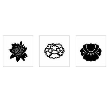 牡丹|シルエット イラストの無料ダウンロードサイト「シルエットAC」
