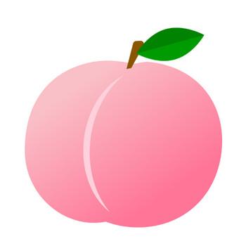 桃のイラスト | 無料のフリー素材 イラストエイト
