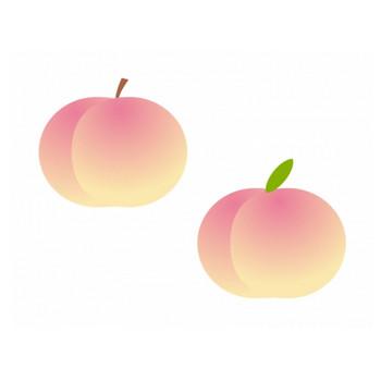 桃のイラスト素材 | イラスト無料・かわいいテンプレート