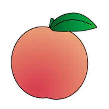 フリー素材、桃