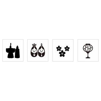 ひな祭り シルエット イラストの無料ダウンロードサイト「シルエットAC」