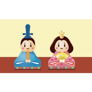 ひな祭り ひな人形のイラスト   EC design(デザイン)