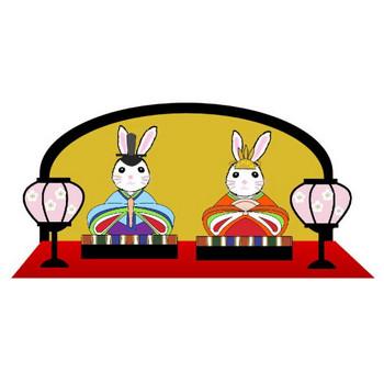 春のイラスト素材 無料テンプレート  ひな祭り