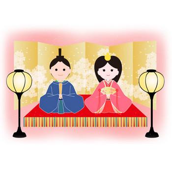 ひな祭り - イラスト - 彩BOX.com