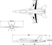 NASA/USAF Active Aerolastic Wing F/A-18A Hornet