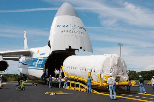 NASA  Upper Stage Rocket Arrives at Kennedy Space Center