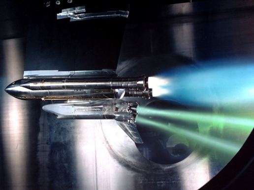 Space shuttle main engine test