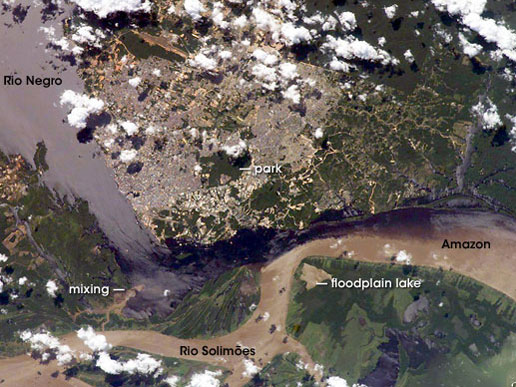 Solimões-Negro River Confluence at Manaus, Amazonia