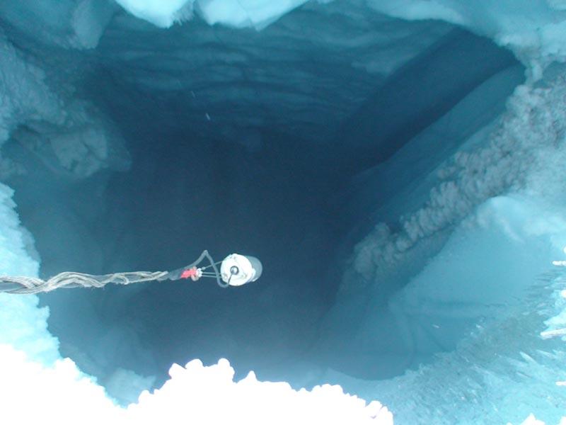 NASA  Moulin Blanc NASA Expedition Probes Deep Within