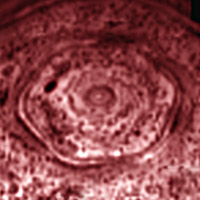 six-sided feature encircling the north pole of Saturn