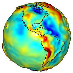 Lumpy Earth - GRACE Gravity Map of Earth - Americas